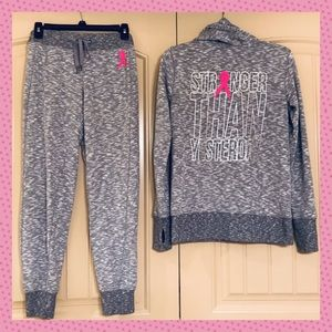 Ideology Breast Cancer Pink Ribbon Jogging Suit